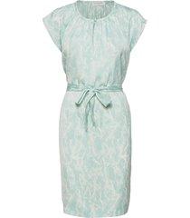 recycled polyester dress ss knälång klänning blå rosemunde