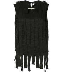 aleksandr manamïs shredded ribbon blouse - black