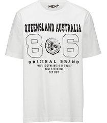 t-shirt men plus wit::zwart