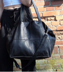 czarna skórzana torba xl