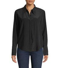 long-sleeve silk shirt