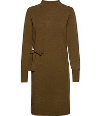 bernice knit dress knälång klänning grön minus