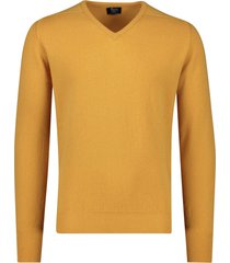 william lockie pullover harvest gold v-hals