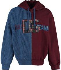 dolce & gabbana embroidered wool-cotton sweatshirt
