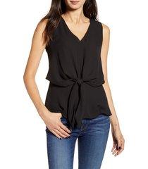 women's chelsea28 tie waist top, size x-large - black