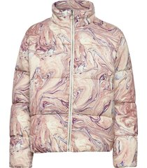 soft quilted jacket in print and solid fodrad jacka multi/mönstrad scotch  soda