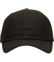 barbour wax sports cap hats in green cotton