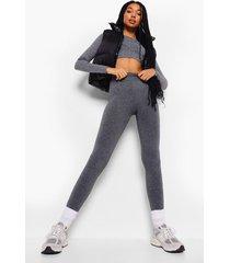 grijze superzachte fleece leggings met voering, grey