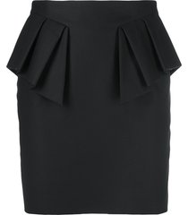 alexandre vauthier draped cotton mini skirt - black