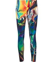 junya watanabe legging cropped com estampa holográfica - preto
