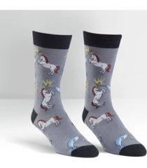 sock it to me men's unicorn vs. narwhal socks
