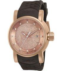 reloj invicta marrón modelo 127nh para hombres, colección s1 rally