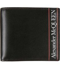 alexander mcqueen logo print bifold wallet