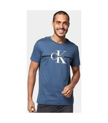 camiseta calvin klein re issue faixa masculina