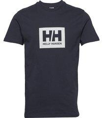 hh box t t-shirts short-sleeved blå helly hansen
