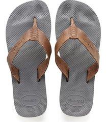 sandalias chanclas havaianas unisex gris urban special