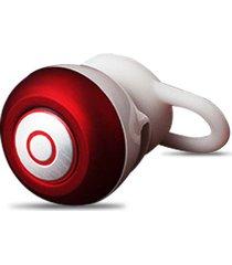 audífonos inalámbricos deportivos, mini audifonos bluetooth manos libres  in-ear stealth auricular universal con mic handfree para el iphone teléfono móvil samsung (rojo)