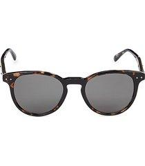 bottega veneta women's 49mm round sunglasses - grey