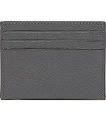 coach men's pebble leather card case - graphite