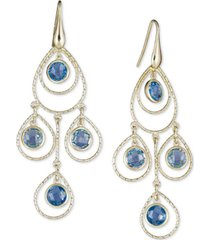 blue topaz chandelier drop earrings (8-3/4 ct. t.w.) in 14k vermeil over sterling silver