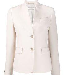 peserico slim-fit high-collar blazer - neutrals