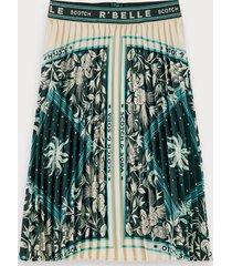 scotch & soda pleated scarf print maxi skirt