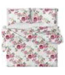 jogo de cama lençol solteiro 150 fios cotton belize
