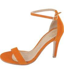 sandalia naranja meet me 5317