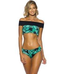 biquíni cropped dupla face kalini beachwear palmy