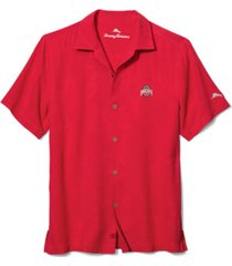 tommy bahama men's ohio state buckeyes al fresco tropics camp shirt