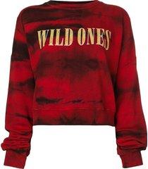 amiri wild ones tie dye sweatshirt - red