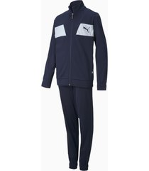 polyester trainingspak, blauw, maat 110 | puma