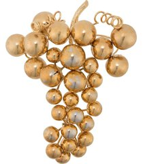 a.n.g.e.l.o. vintage cult 1980s grape brooch - gold