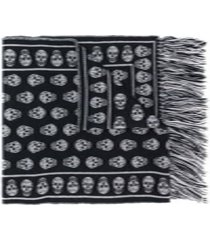 alexander mcqueen skull wool scarf