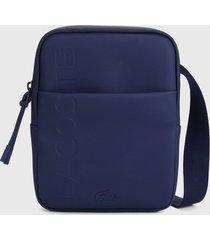 bolso manos libres azul navy lacoste branded