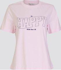 t-shirt med print - ljusrosa