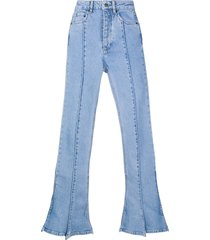 y/project flared trumpet jeans - blue