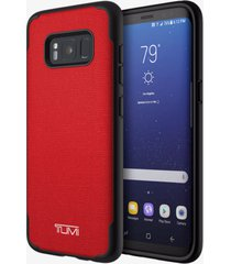 new samsung galaxy s8 tumi co-mold coated canvas case cover red