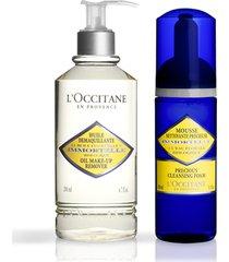 l'occitane rotina duo de limpeza facial immortelle