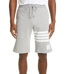 men's thom browne four bar sweat shorts, size 1 - grey