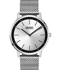 hugo men's #exist ultra slim stainless steel mesh bracelet watch 40mm