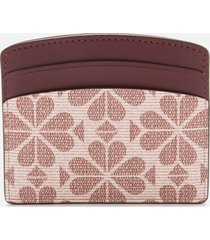 kate spade new york women's spade flower card holder - pink multi