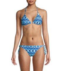 melissa odabash women's cancun 2-piece print string bikini set - luxe - size 40 (4)