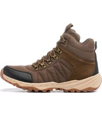 botin earth brown carbin chancleta