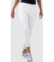 jeans dress in wit