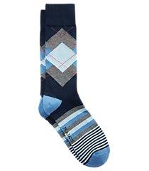 travel tech argyle & stripe mid-calf socks, 1-pair clearance