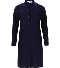 vestido camisero color azul, talla 6