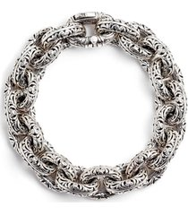 women's konstantino etched sterling silver filigree bracelet