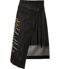 haculla hand over love wrap skirt - black