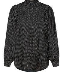 acacia eadie shirt blouse lange mouwen zwart bruuns bazaar
